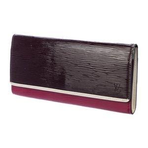 LOUIS VUITTON Epi Tri-Color Flore Wallet w box